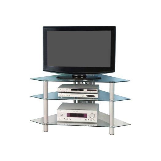 "dCOR design 44"" Glass Corner TV Stand"