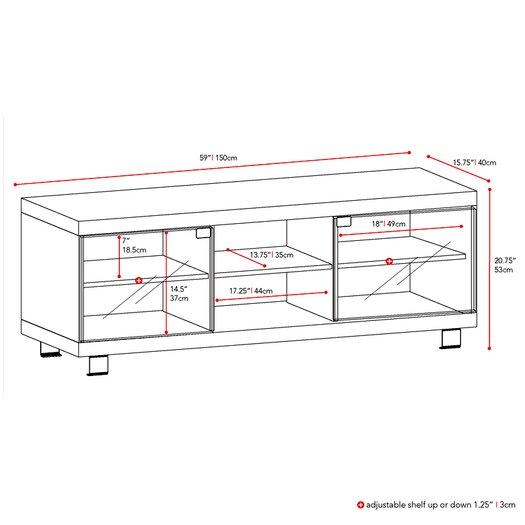 "dCOR design 59"" TV Stand"