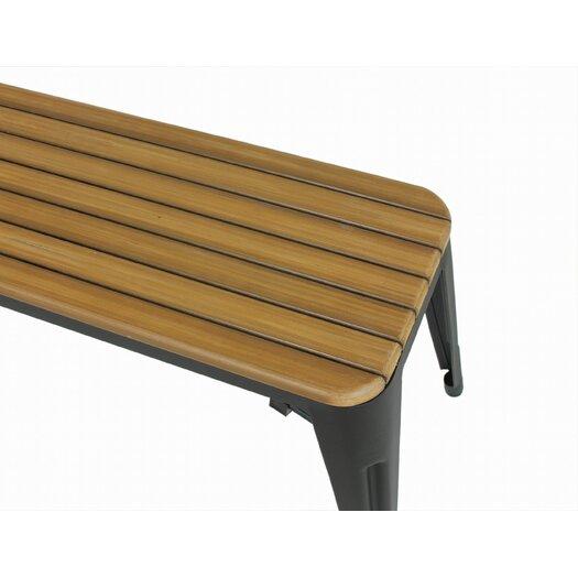 dCOR design Steel Garden Bench