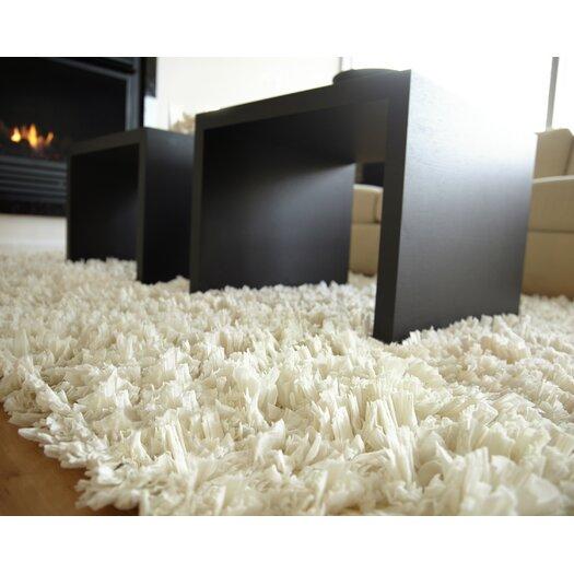 Anji Mountain Creme Paper Shag Area Rug