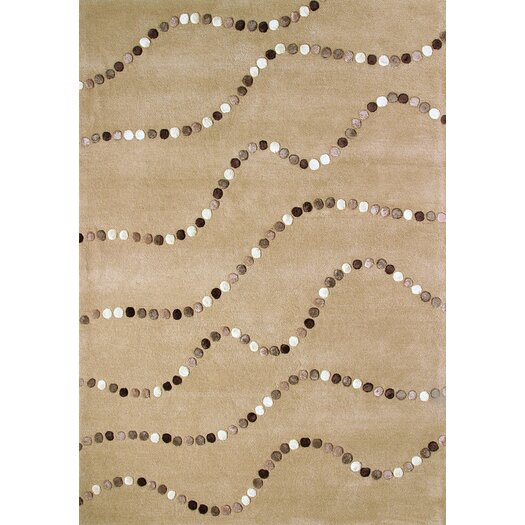 Foreign Accents Boardwalk Latte Dots Area Rug