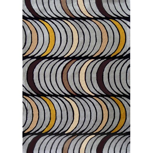 Foreign Accents Festival Stormcloud Grey Area Rug
