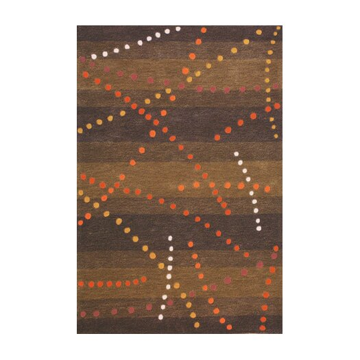 Foreign Accents Festival Brown Area Rug