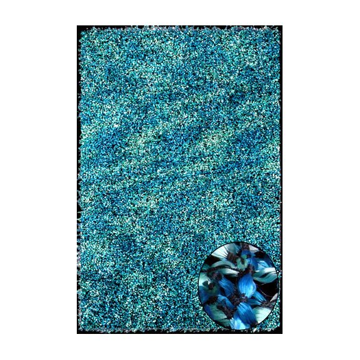 Foreign Accents Elementz Starburst Turquoise Area Rug
