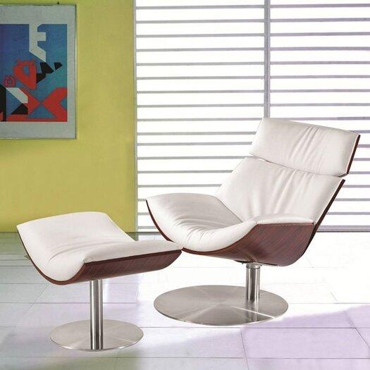 Impress Lounge Side Chair & Ottoman Set