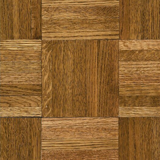 """Armstrong Urethane Parquet 12"""" Solid Oak Flooring in Tawney Spice"""
