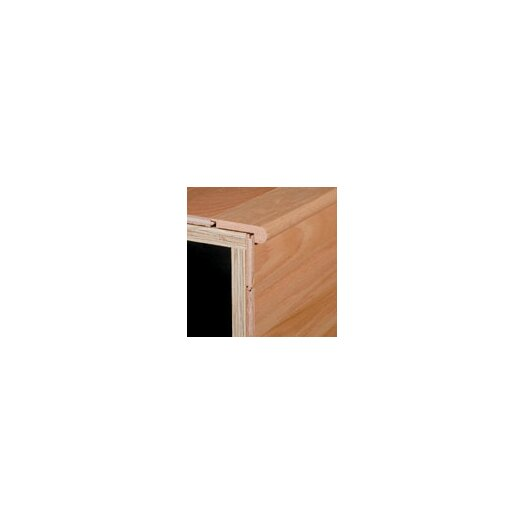 "Armstrong 0.31"" x 2.38"" Red Oak Stair Nose in Cambridge Ginger"