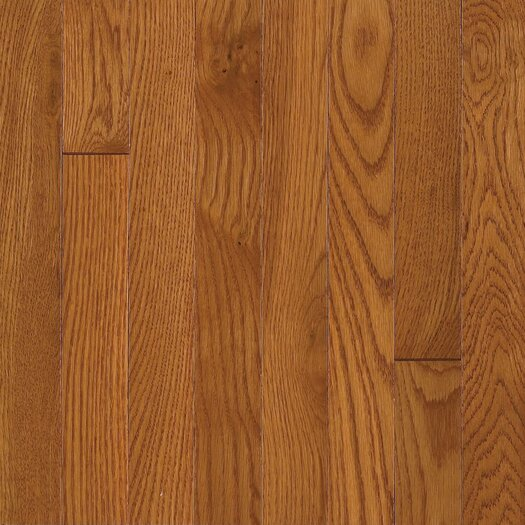 """Armstrong Somerset Strip 2-1/4"""" Solid Oak Flooring in Large Copper"""