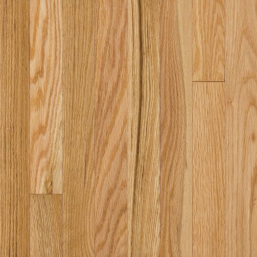 "Armstrong Somerset Strip 2-1/4"" Solid Oak Flooring in Large Natural"