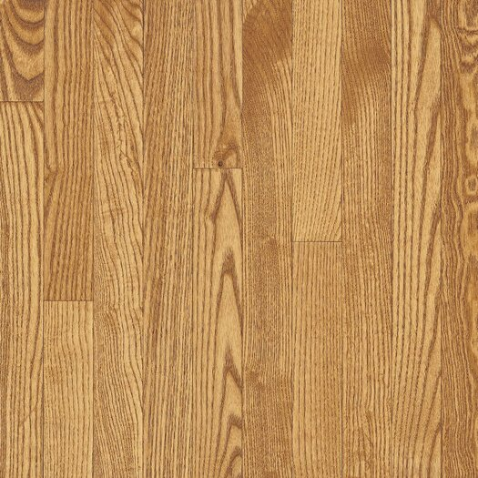 """Armstrong Yorkshire Plank 3-1/4"""" Solid White Oak Flooring in Sahara"""