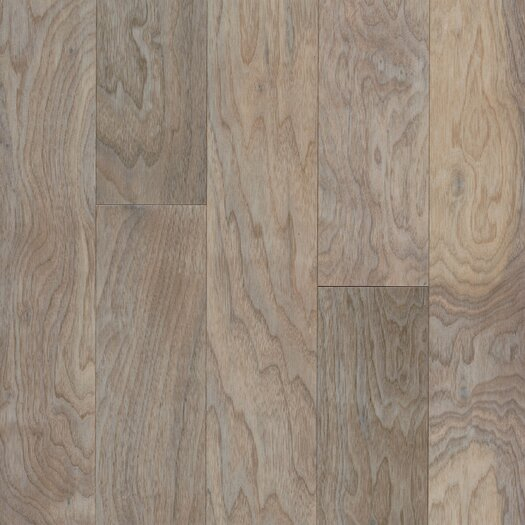 """Armstrong Performance Plus 5"""" Acrylic-Infused Engineered Walnut Flooring in Shell White"""