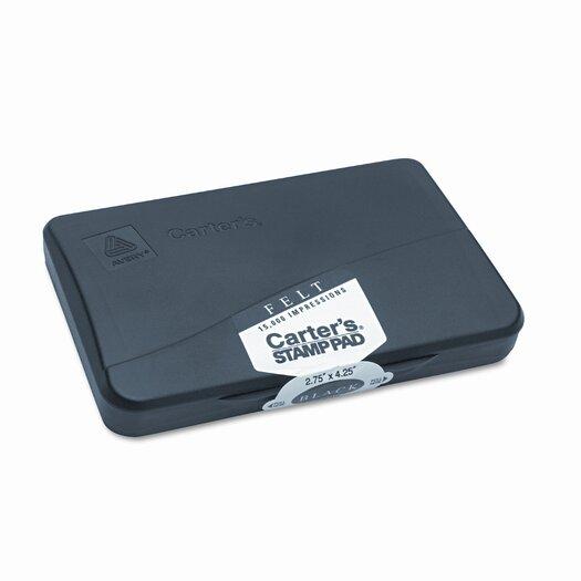 Carter's® Felt Stamp Pad, 4.25w x 2.75d, Black
