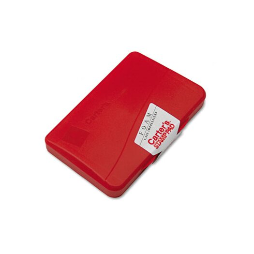 Carter's® Foam Stamp Pad, 4.25w x 2.75d, Red