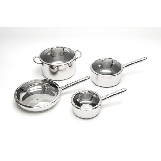 BergHOFF International Boreal Stainless Steel 8-Piece Cookware Set