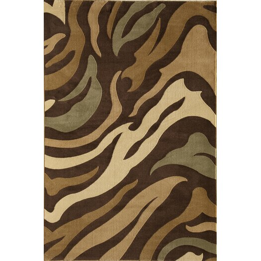 Rugs America Torino Jungle Brown Area Rug