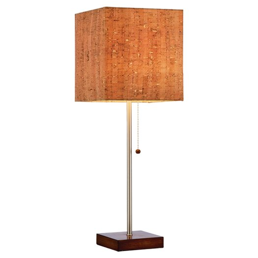 """Adesso Sedona 1 Light 21.5"""" H Table Lamp with Square Shade"""