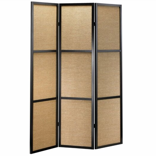 "Adesso 70"" x 52"" Haiku Folding 3 Panel Room Divider"