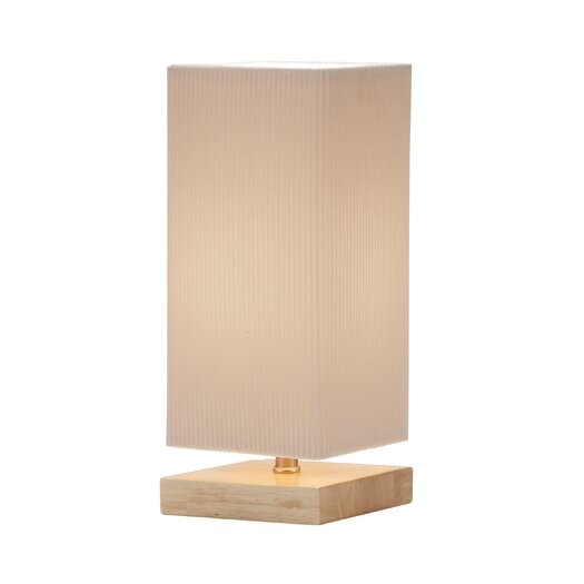 """Adesso Angelina 12"""" H 1 Light Table Lamp with Square Shade"""