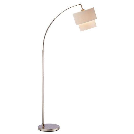 Adesso Streamer 1 Light Arched Floor Lamp