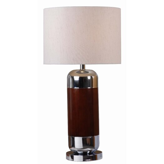 "Wildon Home ® Ike 29.5"" H Table Lamp with Drum Shade"