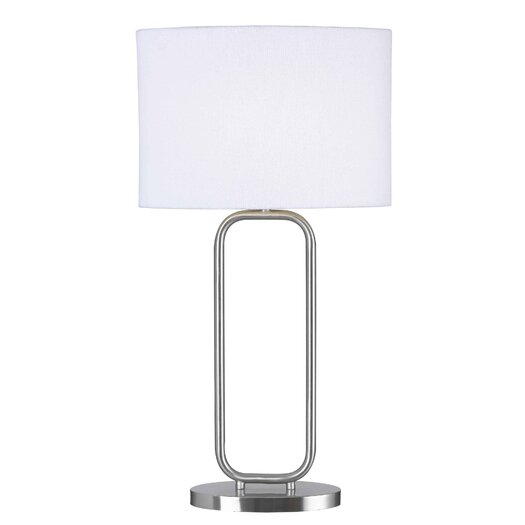 "Wildon Home ® Duet 27.25"" H Table Lamp with Drum Shade"
