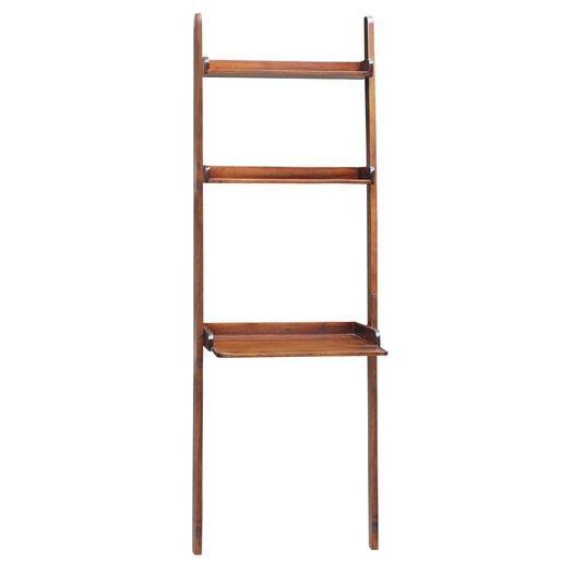 International Concepts Leaning Desk with 2 Upper Shelves
