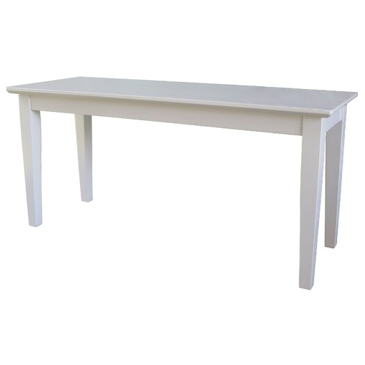 International Concepts Shaker Wood Bench