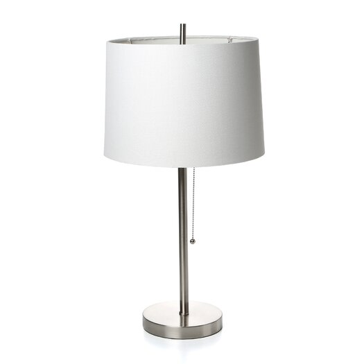 "Fangio Lighting Modern 26"" H Table Lamp with Drum Shade"