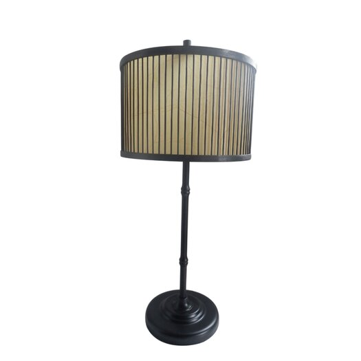 """Fangio Lighting 27.5"""" H Table Lamp with Drum Shade"""