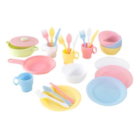 KidKraft Pastel 27 Piece Cookware Play Set