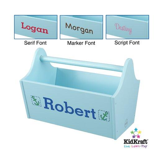 KidKraft Toy Box Caddy in Ice Blue
