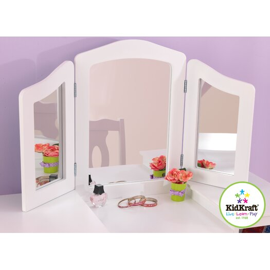 KidKraft Deluxe 2 Piece Vanity Set with Mirror