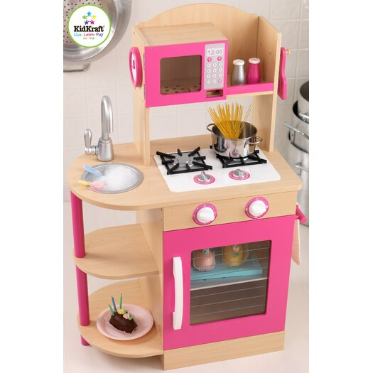 KidKraft Pink Wooden Play Kitchen