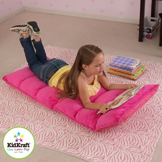 KidKraft Personalized Adjustable Lounger in Hot Pink