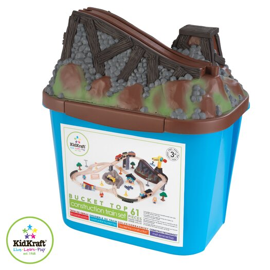 KidKraft Construction Bucket Top Train Set