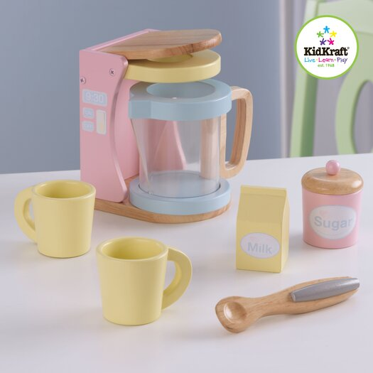KidKraft 7 Piece Pastel Kitchen Coffee Set