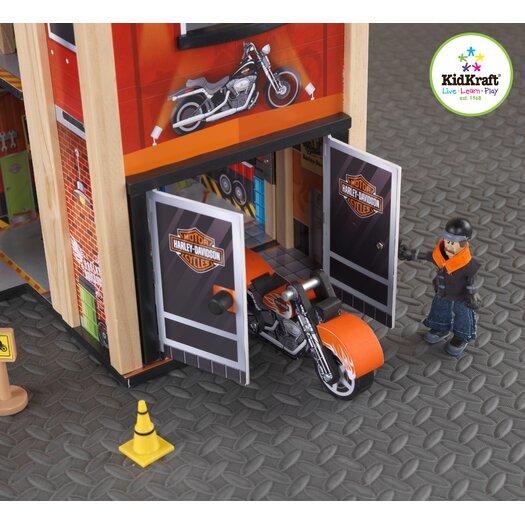 KidKraft Harley-Davidson 19-Piece Garage Play Set