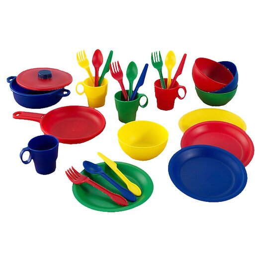 KidKraft 27 Piece Primary Cookware Play Set