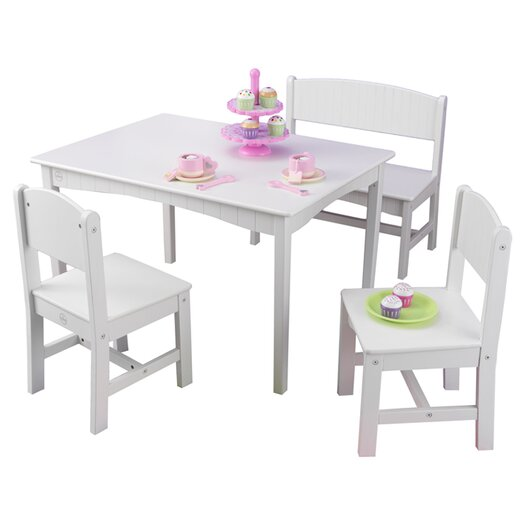 KidKraft Nantucket Kids' 4 Piece Table and Chair Set