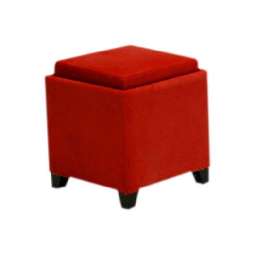 Armen Living Cube Storage Ottoman I