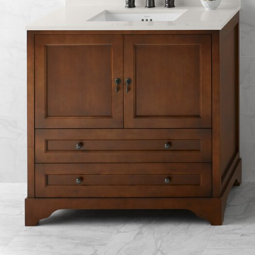 """Ronbow Traditions Milano 36"""" W Bathroom Colonial Cherry Vanity Base"""