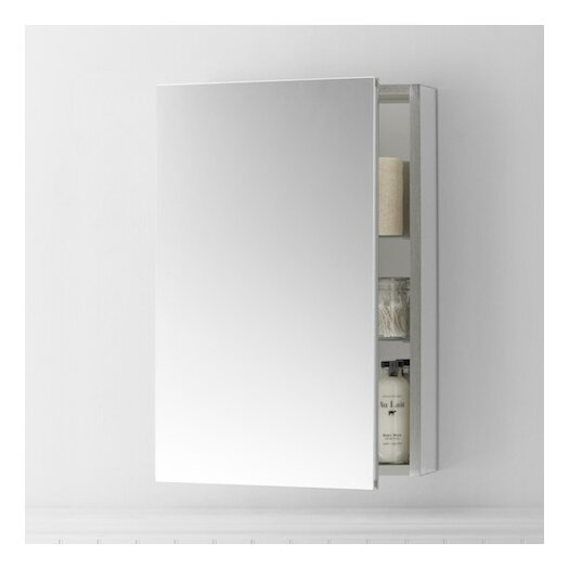 """Ronbow 20"""" W Brushed Nickel Medicine Cabinet"""
