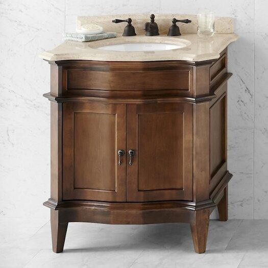 "Ronbow Traditions Solerno 32"" W Standard Bathroom Café Walnut  Vanity Set"