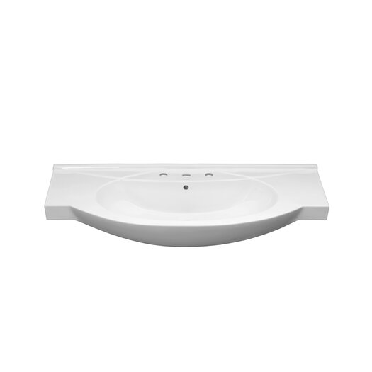 Ronbow Euro Style Overhang Ceramic Bathroom Sink with Overflow