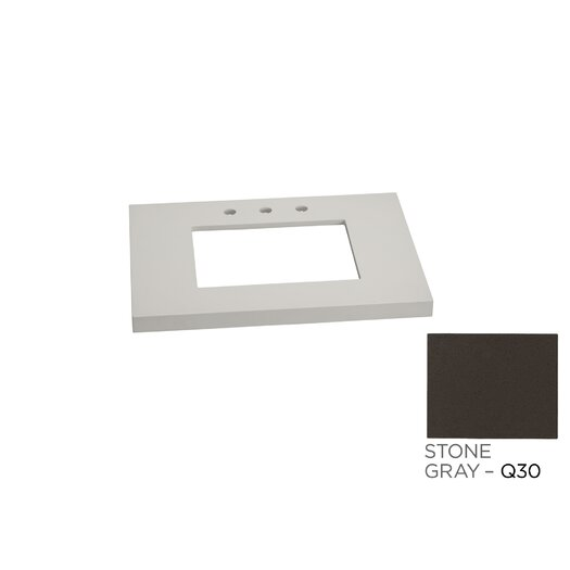 """Ronbow WideAppeal 31"""" Vanity Top in Stone Gray"""