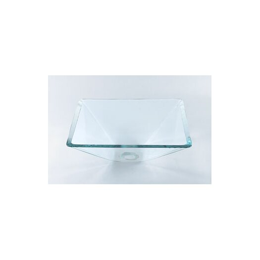 Ronbow Square Vessel Bathroom Sink with Tempered Glass