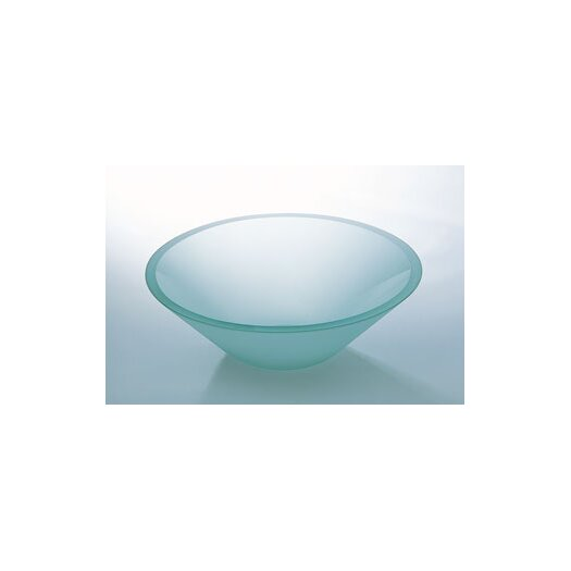 """Ronbow 5.5"""" x 16.5"""" Artistic Glass Vessel Sink with Tempered Glass"""