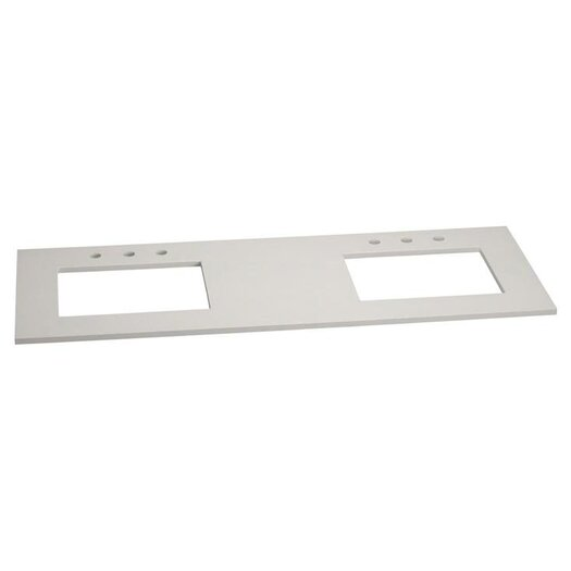 Ronbow Stone Vanity Top for Double Undermount Sinks
