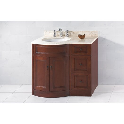 "Ronbow Traditional Marcello 36"" W Standard Bathroom Colonial Cherry Vanity Base"