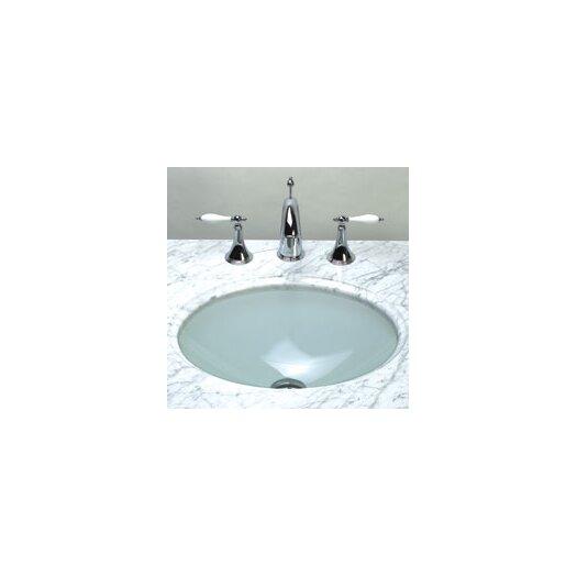 Ronbow Undermount Oval Glass Vessel Bathroom Sink